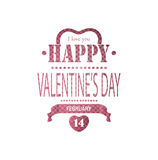 Valentine's Title Inscription Stock Photography