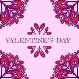 Valentine`s vector background with stylized hearts. For greeting cards Vector Illustration