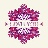 Valentine`s vector background with stylized hearts. For greeting cards Royalty Free Stock Photo