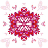Valentine`s vector background with stylized hearts. For greeting cards Stock Images