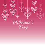 Valentine s vector background with stylized hearts. For greeting cards Stock Image