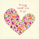 Valentine's vector card Royalty Free Stock Photography