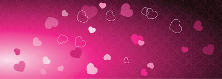 Valentine`s web banner with copy space. Template. Graphic design eleme Royalty Free Stock Photos