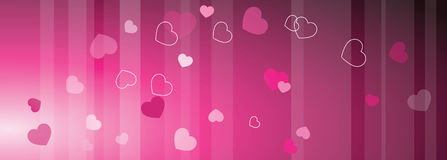 Valentine`s web banner with copy space. Template. Graphic design eleme royalty free illustration