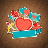 Valentine's and Wedding background. Valentine's and Wedding holiday background stock illustration