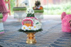 Valentine, wedding ceremony. Valentine`s wedding ceremony of Thailand Traditional Wedding Traditions The love of men and women is based on Thai culture Royalty Free Stock Photo