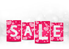 Valentine sale Royalty Free Stock Photos
