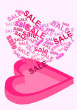 Valentine sale box Stock Photo