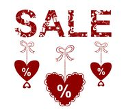 Valentine sale Stock Images
