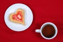 Valentine sandwich Stock Photos