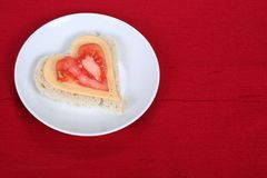 Valentine sandwich Stock Image