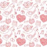 Valentine sans couture illustration libre de droits