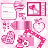 Valentine scrapbook elements Stock Photo