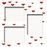 Valentine scrapbook frame Stock Photo