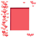 Valentine scrapbook frame Royalty Free Stock Image