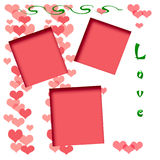 Valentine scrapbook frame Stock Photo