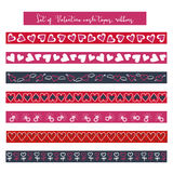 Valentine scrapbook washi tape ribbon royalty free illustration