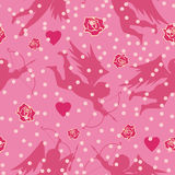 Valentine seamless background Stock Photography