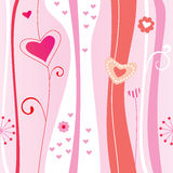 Valentine seamless background Royalty Free Stock Images