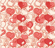 Valentine seamless background Stock Photography