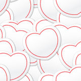 Valentine seamless background Stock Photo