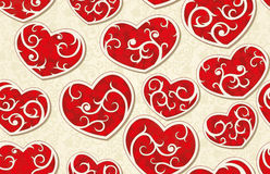 Valentine seamless background Stock Image