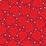 Valentine Seamless background with hearts Stock Images
