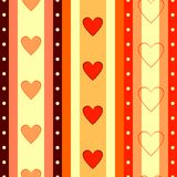Valentine seamless background (vector) royalty free illustration