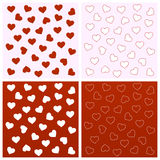 Valentine seamless backgrounds Royalty Free Stock Photography