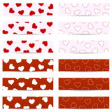 Valentine seamless banners Stock Photography