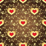 Valentine seamless brown pattern Stock Photo
