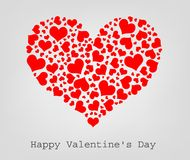 Valentine seamless hearts Royalty Free Stock Photos