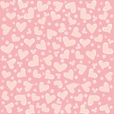 Valentine seamless hearts  background. Valentine seamless pink hearts  background Royalty Free Stock Images