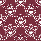 Valentine seamless hearts and Love you pattern Royalty Free Stock Image