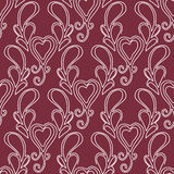 Valentine seamless hearts and Love you pattern Stock Photography