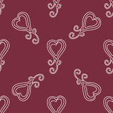 Valentine seamless hearts and Love you pattern Royalty Free Stock Photo