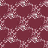 Valentine seamless hearts and Love you pattern Royalty Free Stock Images