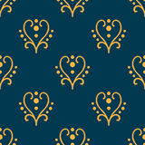 Valentine seamless hearts and Love you pattern Stock Image