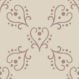 Valentine seamless hearts and Love you pattern Royalty Free Stock Photos