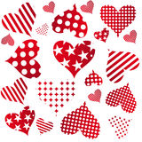 Valentine seamless hearts pattern Royalty Free Stock Images