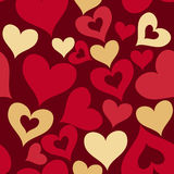 Valentine seamless hearts pattern Stock Photography