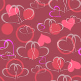 Valentine seamless hearts pattern. Illustration Royalty Free Stock Images