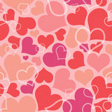 Valentine seamless hearts pattern Royalty Free Stock Photos