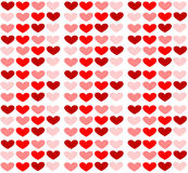 Valentine seamless hearts pattern. Backgorund vector illustration