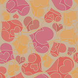 Valentine seamless hearts pattern Royalty Free Stock Photography