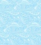 Valentine seamless hearts pattern. Blue Stock Illustration