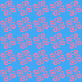 Valentine Seamless Hearts Pattern. Royalty Free Stock Photo