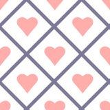 Valentine Seamless Hearts Pattern Vector Fotos de archivo