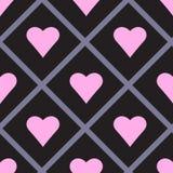 Valentine Seamless Hearts Pattern Vector Foto de archivo libre de regalías