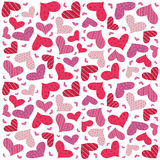 Valentine seamless hearts pattern Royalty Free Stock Image